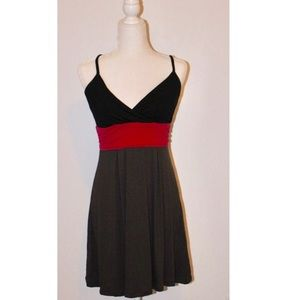 Color-block a-line mini dress